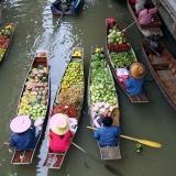 le marche flottant de Bangkok