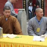 moines au monastère de Shaolin