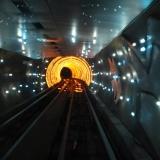 le tunnel sous la rivière a Shanghai