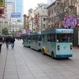 a Shanghai, dans la rue de Nankin