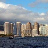 Honolulu vue du bateau