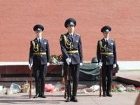 la garde du soldat inconnu a Moscou