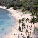 une plage sur l'ile d'Hawaii